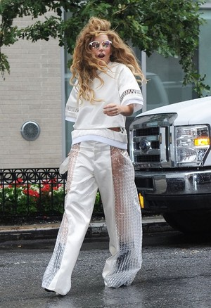 Gaga leaving her apartment in NYC (Aug. 22)