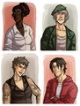 Genderbent Surviors - left-4-dead fan art