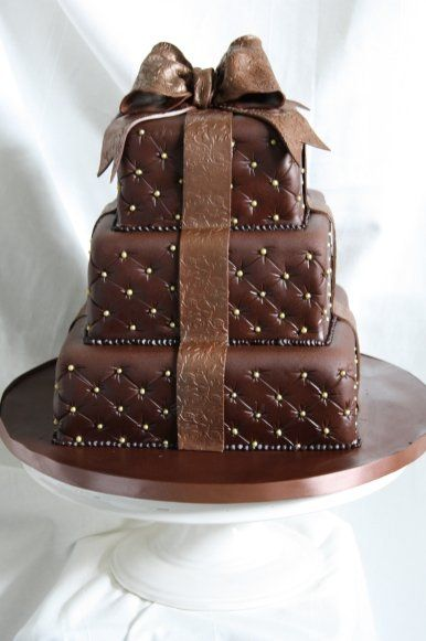 Fancy Chocolate Cake Images : Gift Box cake - Cakes Photo (35316308) - Fanpop
