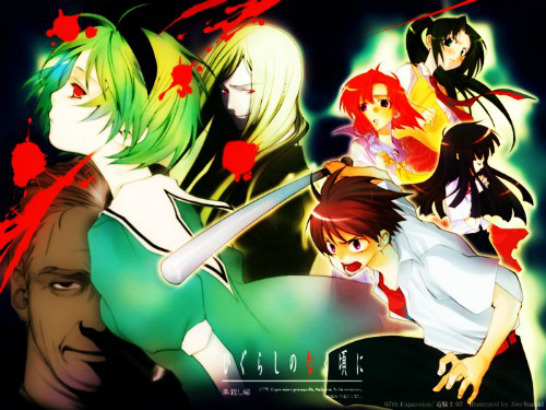 Higurashi no Naku Koro ni wallpaper with anime called Higurashi