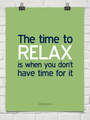 How to find time to relax - depression photo