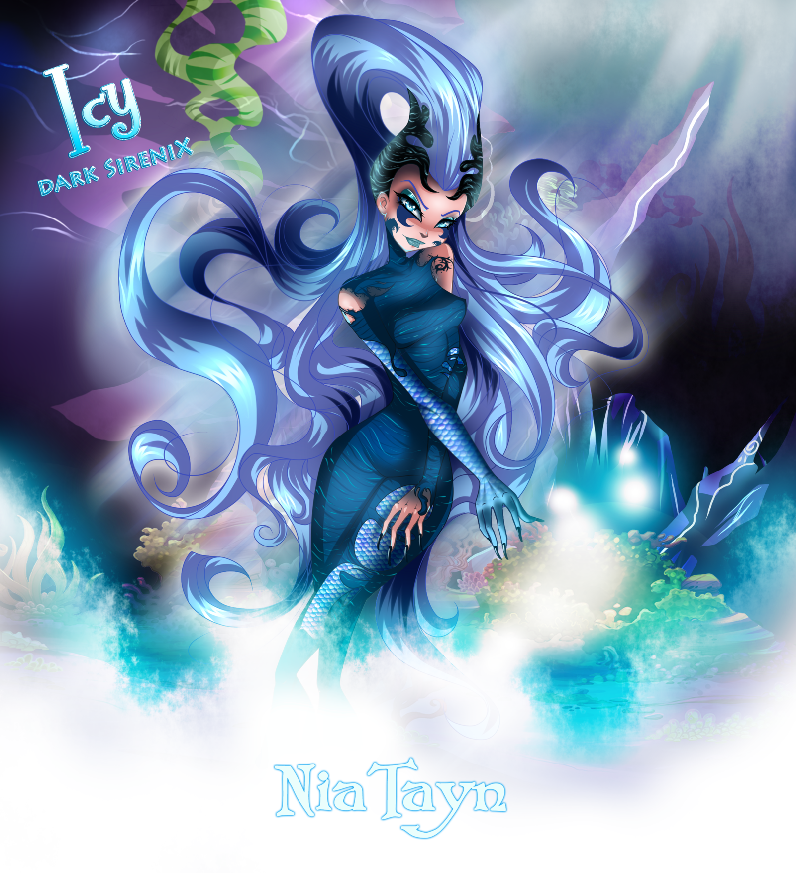 Winx Club Wallpaper Possibly Containing Anime Titled Icy Dark Sirenix