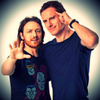 James McAvoy and Michael Fassbender photo probably with a leisure wear entitled JM ★