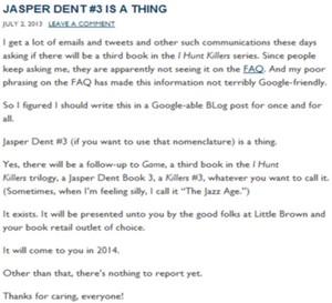 Jasper Dent #3 is a thing!