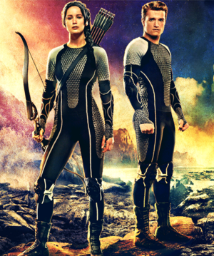 Katniss & Peeta-Catching आग