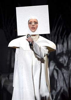 Lady GaGa performing at the MTV VMAs 2013