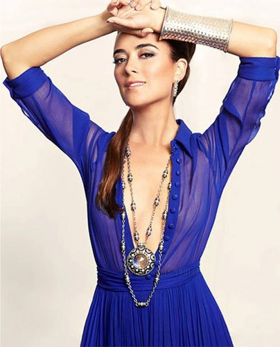 Cote De Pablo kertas dinding possibly containing a koktel dress entitled Latina Magazine September 2013 Photoshoot!