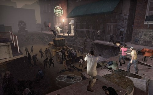 Zombies kertas dinding with a jalan called Left 4 Dead 2