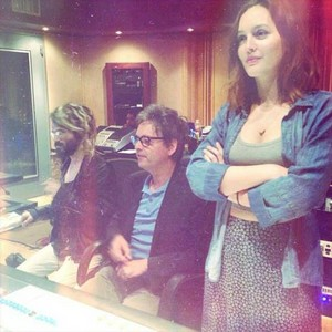 Leighton Meester with Jeff Trott & Shawn Everett @ the studio
