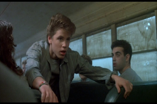 Corey Haim Обои probably with a Телевидение receiver called License to Drive (1988)