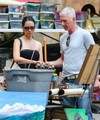 Lucy Liu and her new boyfriend so antique shopping with her dog in downtown Manhattan, New York City - lucy-liu photo