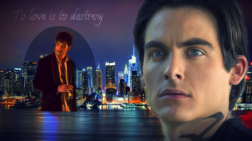 Alec & Magnus fondo de pantalla possibly containing a business district, a street, and a fuente entitled Malec