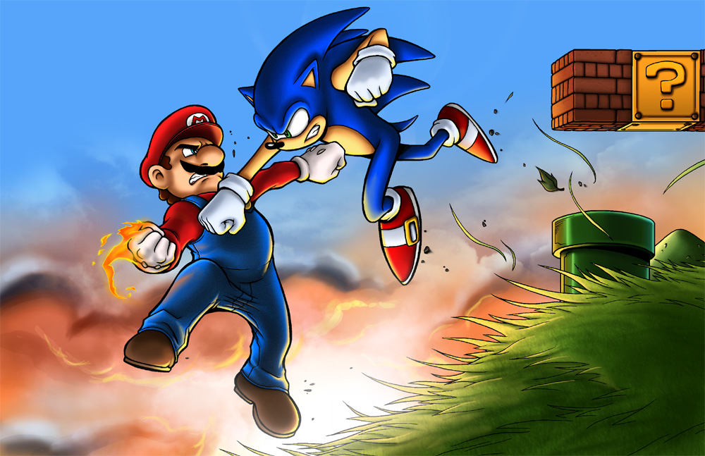 rileyferguson imgenes Mario vs Sonic HD fondo de pantalla and