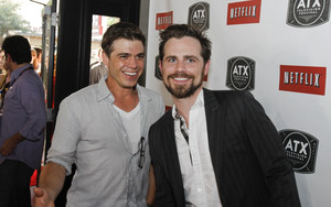 Matthew with Rider Strong
