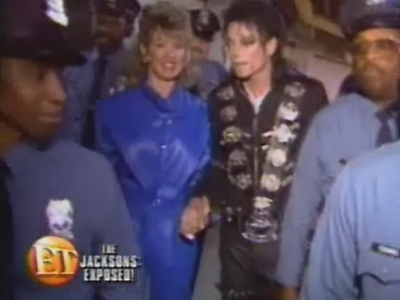 Michael And Journalist, Mary Hart, Backstage
