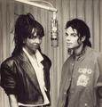 Michael And Siedah Gaarrett In The Recording Studio