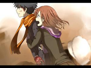 Misaka and Touma