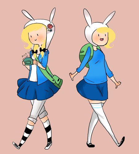 Adventure Time With Finn and Jake wallpaper with anime titled Modern Fionna and Fionna