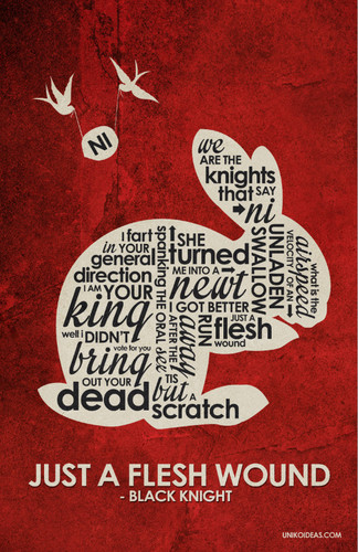 Monty pitão, python and the Holy Grail Inspired Quote Poster