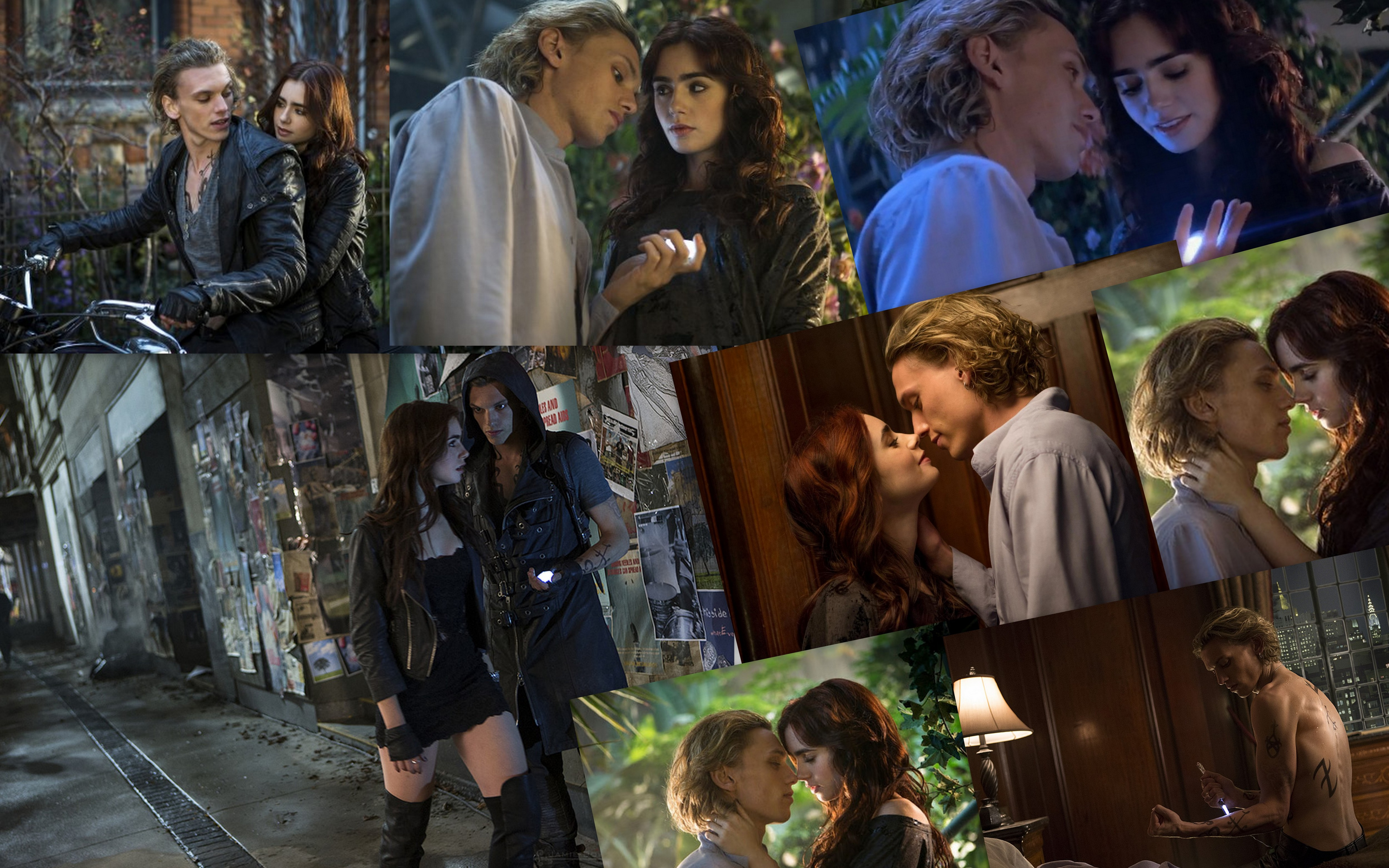 Jace  amp Clary collage  Jace And Clary Kiss Movie