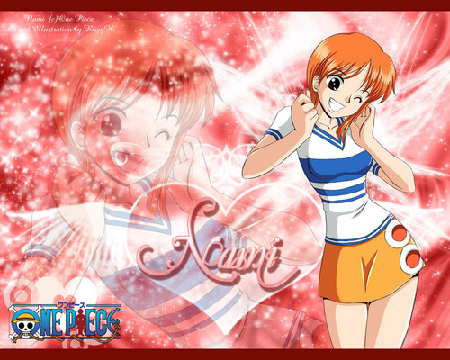 one piece fondo de pantalla entitled Nami (>w<)