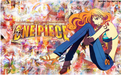 One Piece achtergrond possibly containing anime called Nami (>w<)