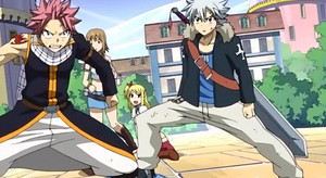 Natsu, Lucy, Haru, Elie <3