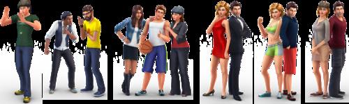 Sims 4 karatasi la kupamba ukuta entitled New SIms 4!