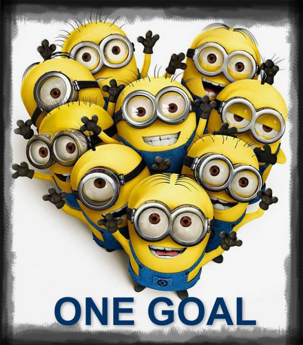 Despicable Me Minions پیپر وال titled ONE GOAL MINION
