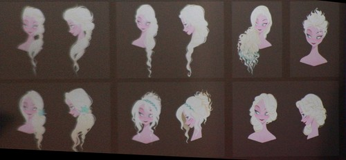 Official Elsa Concept Art - hairstyles
