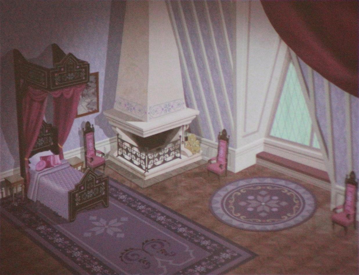 Official frozen concept art elsa 39 s bedroom frozen for Room design elsa