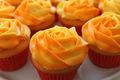 jeruk, orange cupcake ♥