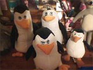 POM Plushies - Skipper, Kowalski, Rico, and Private