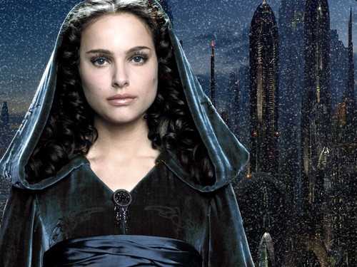 স্টার ওয়ার্স দেওয়ালপত্র possibly with a cloak, a capote, and an opera ছদ্মবেশ titled Padme Amidala Skywalker