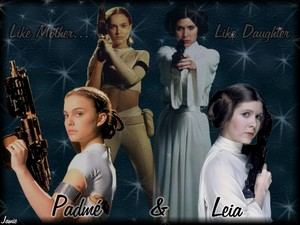 Padme and Leia-Like Mother,Like Daughter