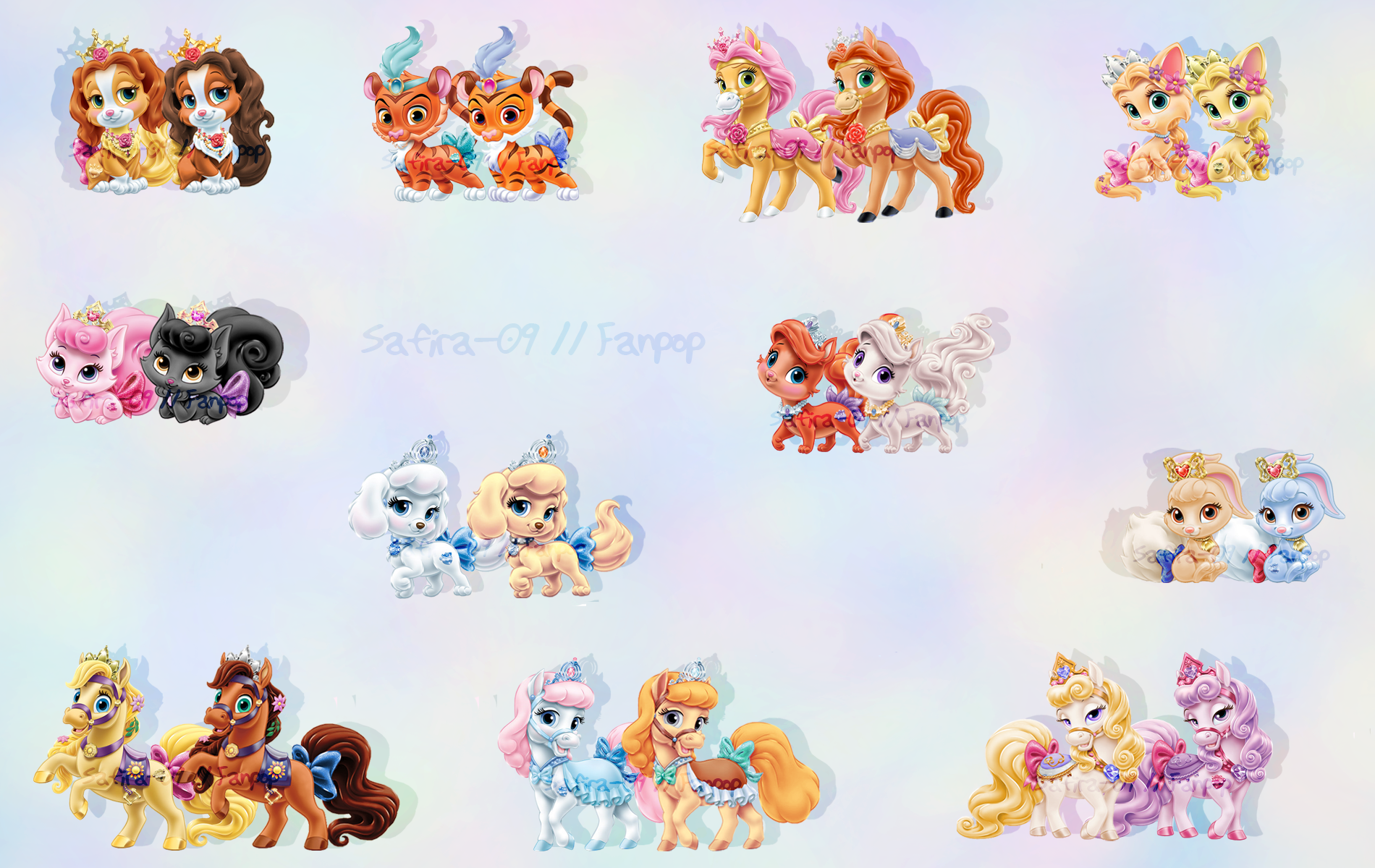 Palace Pets recolored - Childhood Animated Movie Heroines Photo ...
