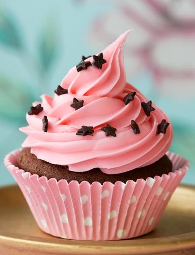 berwarna merah muda, merah muda cupcake
