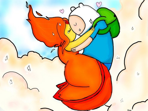 Finn and Flame Princess Kiss by Free-man12   Adventure Time Finn And Flame Princess Kiss