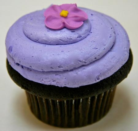 Purple petit gâteau, cupcake