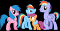 রামধনু Dash's Family + Scootaloo