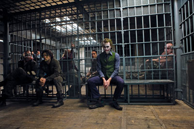 Rare photo of the Joker in a Cage!
