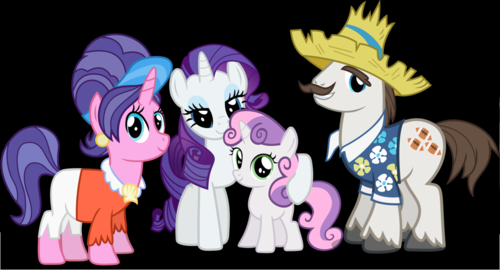 My Little ngựa con, ngựa, pony - Friendship is Magic hình nền probably with anime entitled Rarity's Family