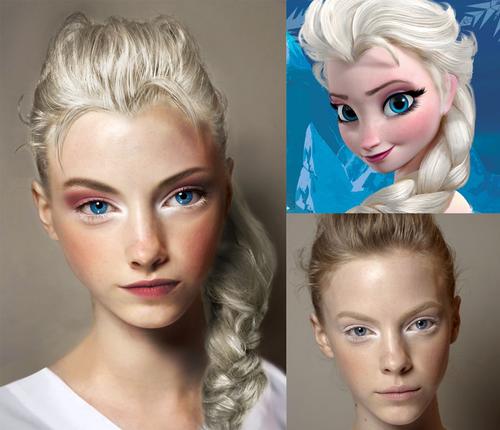 Elsa the Snow কুইন দেওয়ালপত্র containing a portrait called Real Life Elsa