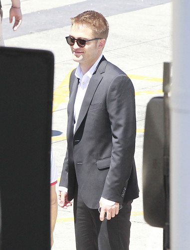Robert on set of Maps to the Stars in L.A.