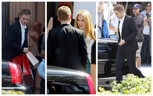 Robert on the set of Maps to the Stars on Aug.18,2013