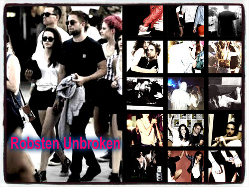 Robert Pattinson & Kristen Stewart वॉलपेपर probably containing ऐनीमे called Robsten Unbroken