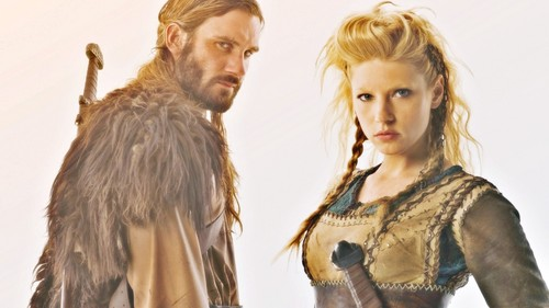 Vikings (TV Series) karatasi la kupamba ukuta possibly containing a hip boot called Rollo & Lagertha