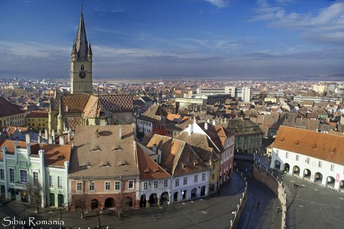 Romania city view eastern Europe