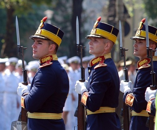 Romanian military men Special Guards