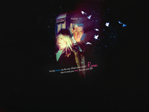 The Doctor and Rose wallpaper titled Rose&Doctor